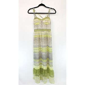 AMERICAN EAGLE Boho Maxi Dress Criss Cross Sz XS